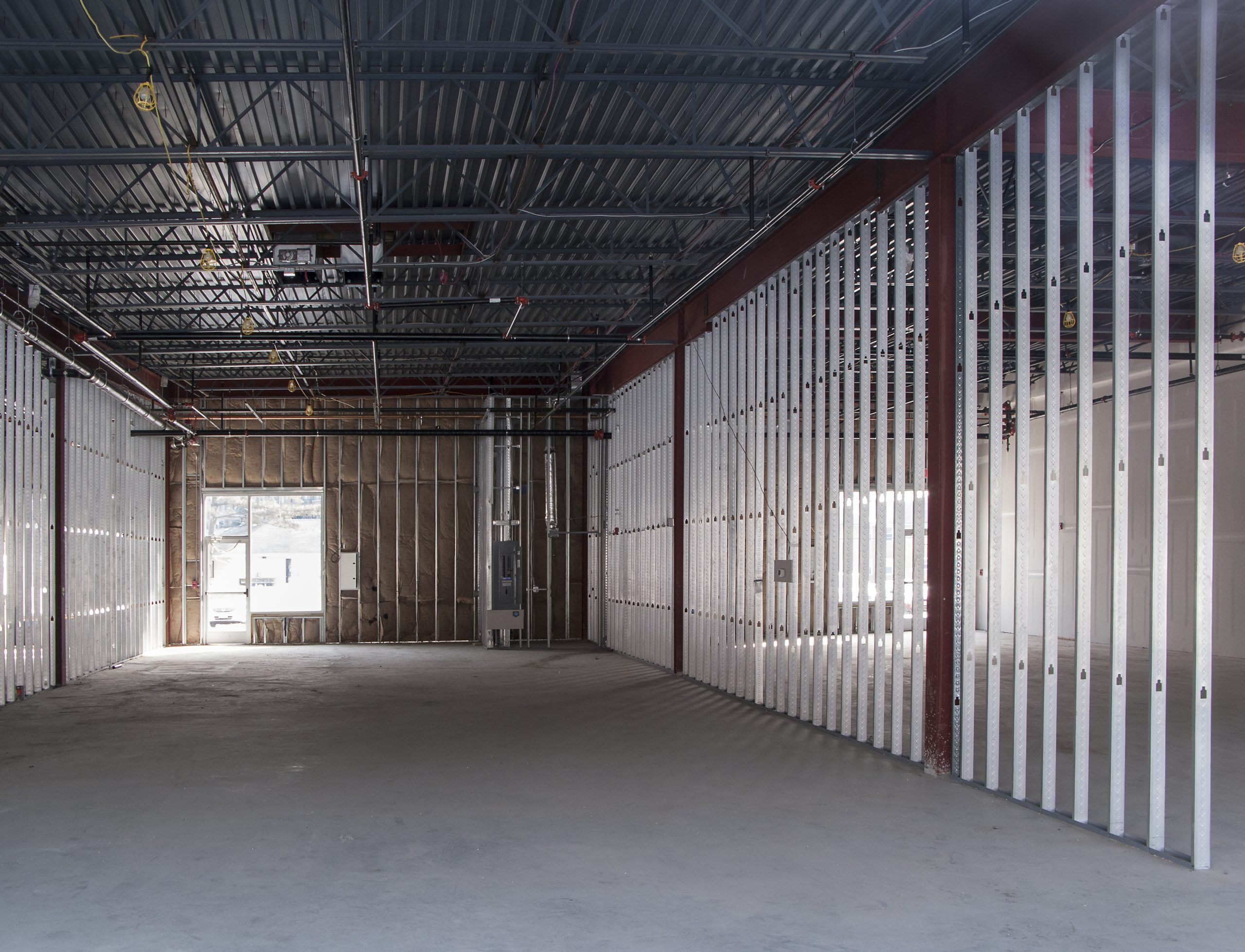 commercial space under construction