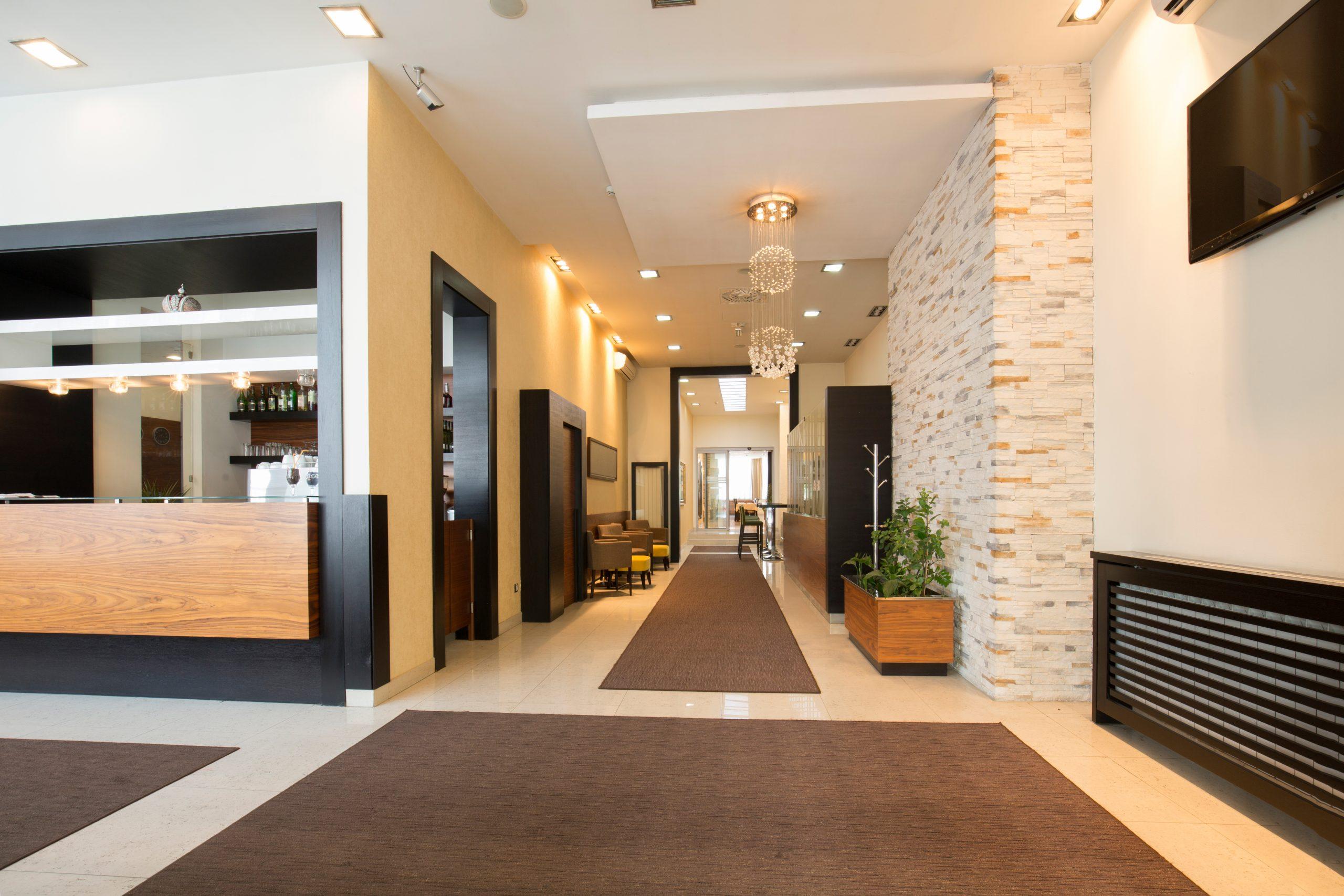 Modern luxury hotel lobby