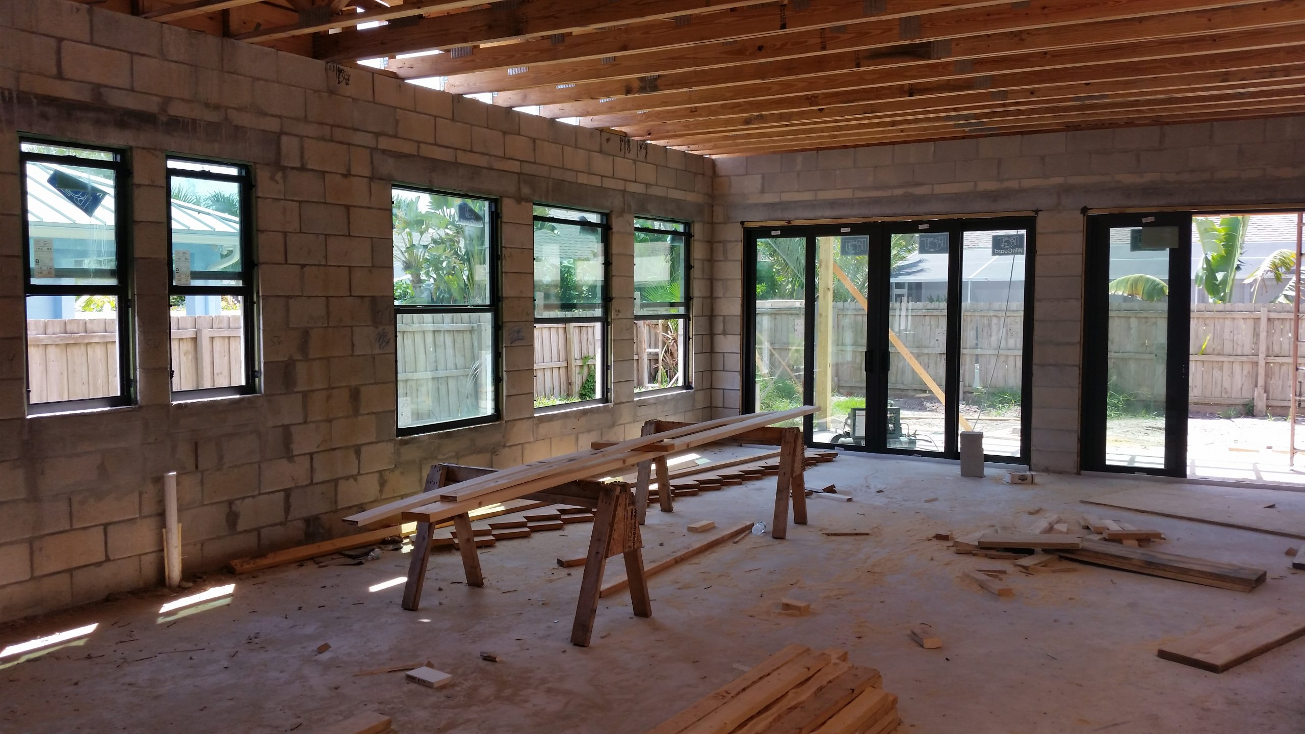 5-cmu,windows,floor joists